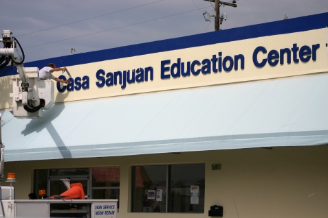 sanjuan center sign